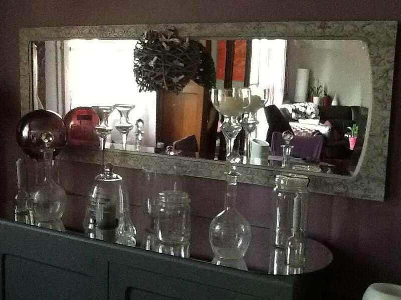 Miroir porte armoire - 120€ Sur commande choix coloris et motif possible