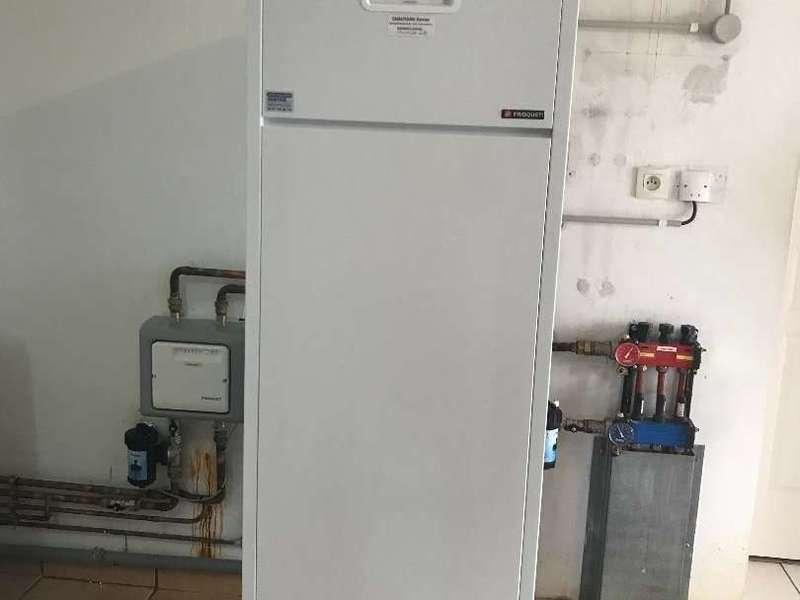 Chaudière condensation. Remplacement chaudière avec 2 zones de chauffe.