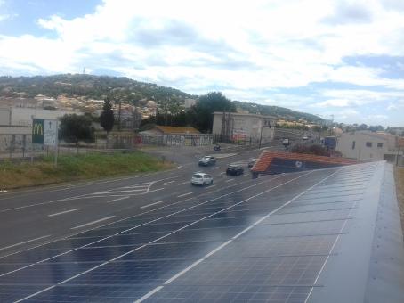 Centrale 36 kWc avec 126 modules intégration au bâti