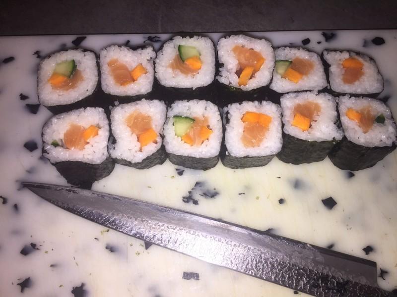 Maki Saumon traiteur cacher menu japonais
