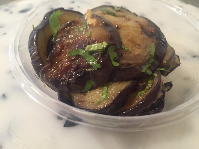 salade shabbat - aubergine confit cacher