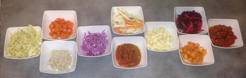 assortiment salade de shabbat