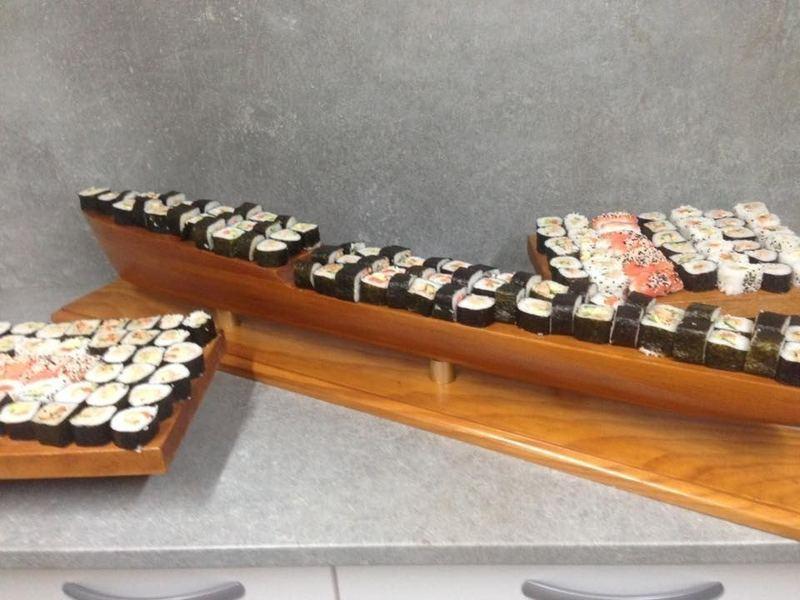 Assortiment maki,california, sushi  cacher