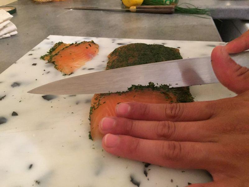 Filet de saumon Gravlax cacher