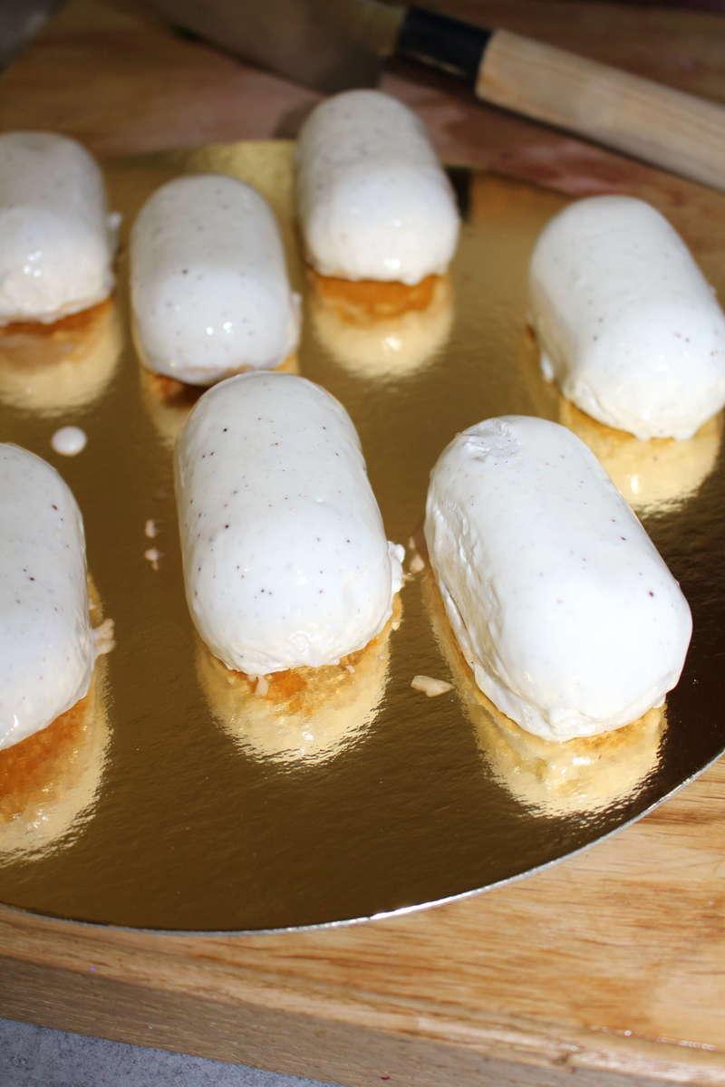 Mini-entremet tout vanille dessert parvé traiteur cacher