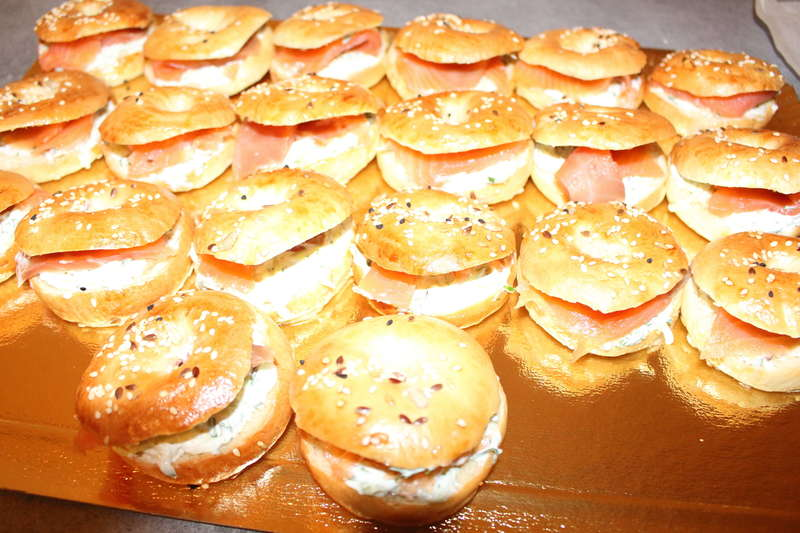 mini bagels saumon  traiteur cacher
