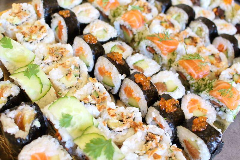 mix maki california cacher pour buffet japonnais