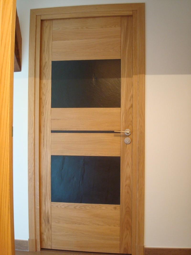 Porte intérieure deux panneau  en bois sur mesure