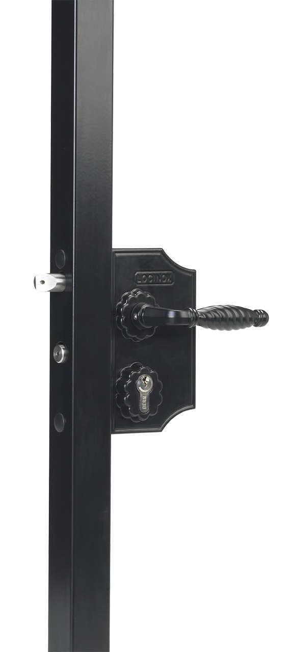 Serrure style fer forgé avec  Grand coffre Lg 90mm Réf LAKQ H2 ou Petit coffre Lg 80mm Réf LAKY F2