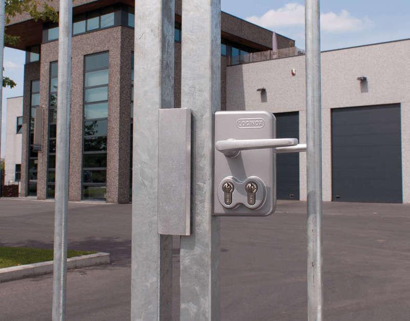 Serrure double cylindre  pour portail battant - Réf LDKZ D1