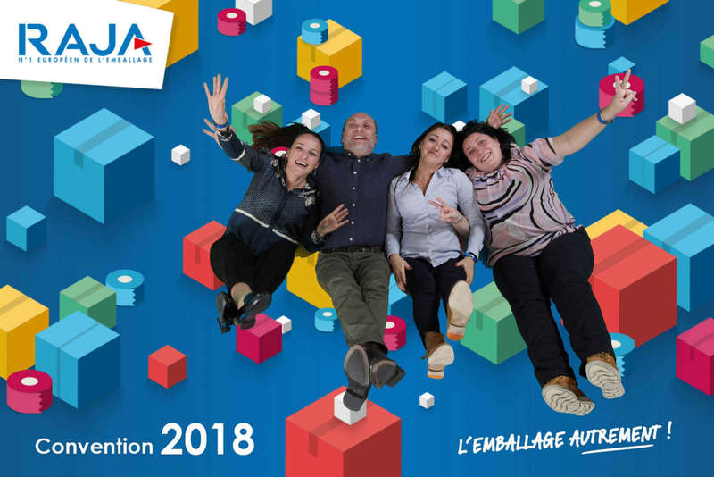 Air studio fond vert pour la convention Raja - 2018
