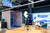 Décor renversé lors de l'animation gravity box pour Decathlon à Lausanne en Suisse
