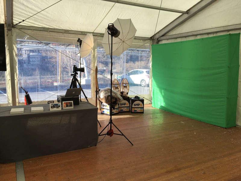 Installation du set-up fond vert