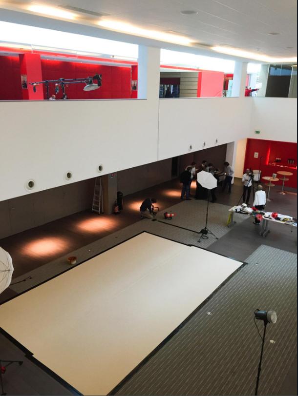 Set-up air studio BNP Paribas