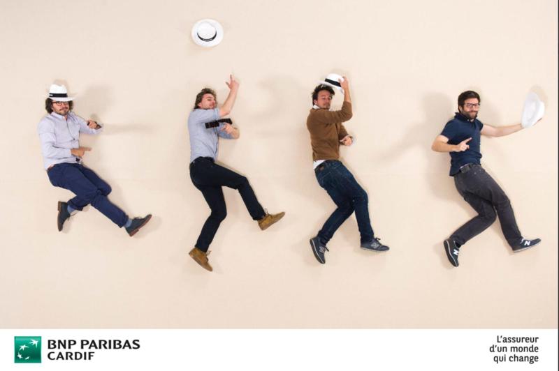 Résultat en photo du air studio BNP Paribas pour mettre en avant les valeurs de l'entreprise.