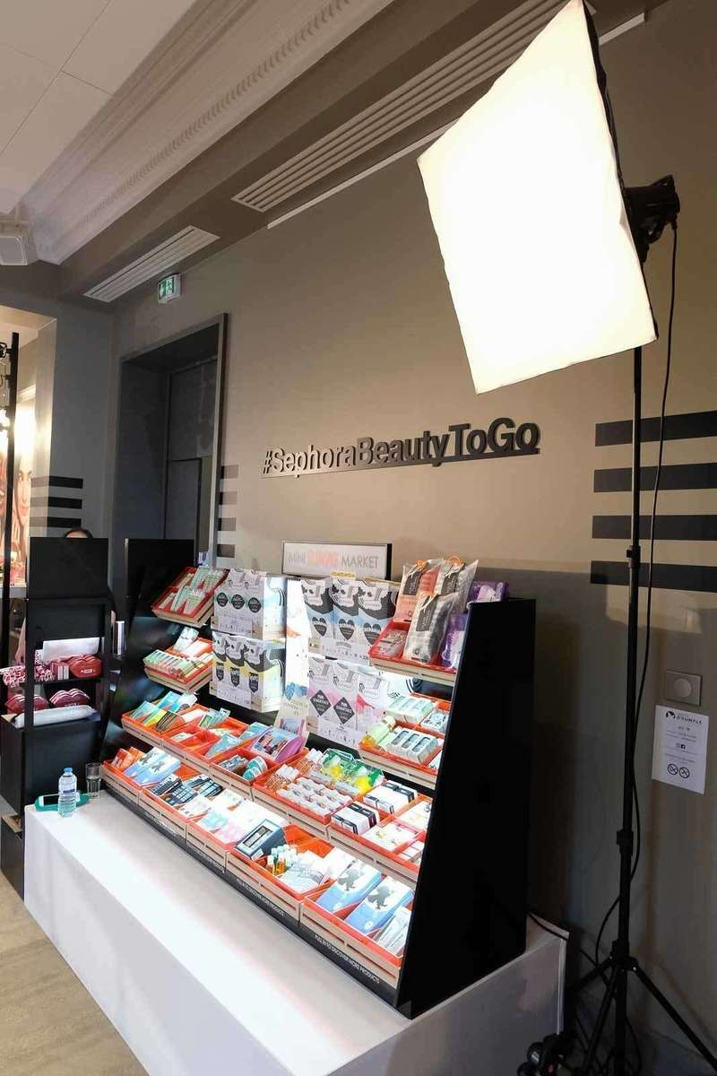 Dispositif photocall décors pour Sephora au Cercle d'Aumale à Paris - 2019