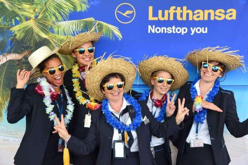 Photocall Lufthansa à l'aéroport Charles de Gaulle - 2016