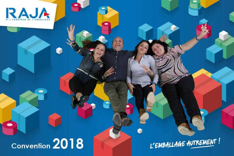 Air studio fond vert pour la convention Raja - 2018