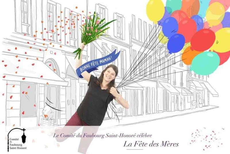 Pix & Draw pour le Comité du Faubourg Saint Honoré pour la fête des mères - 2017