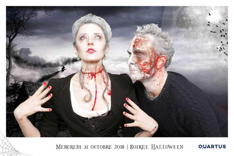 Fond vert sur le thème Halloween pour Quartus - 2018