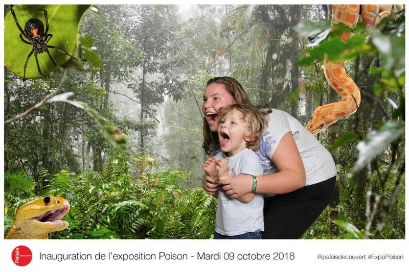Fond vert pour l'Inuauguration de l'exposition Poison au Palais de la Découverte  2019
