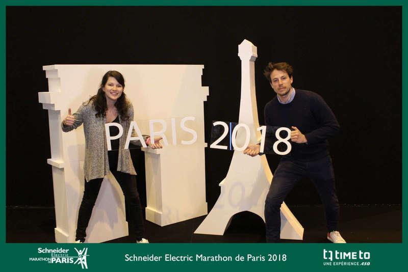 Photocall décors pour le Marathon de Paris - 2018