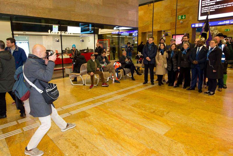Animation Photoflyer dans la gare de Cornavin à Genève