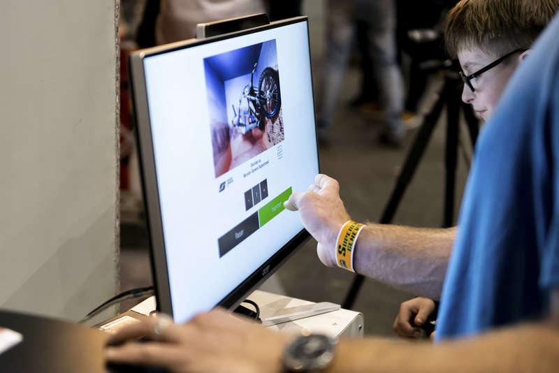 Ecran du Print & Share pour permettre aux visiteurs d'imprimer et de s'envoyer leurs photos