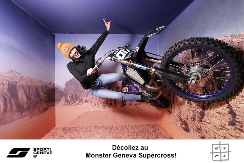 Rendu de la Gravity Box pour Sporti pendant le Supercross de Genève