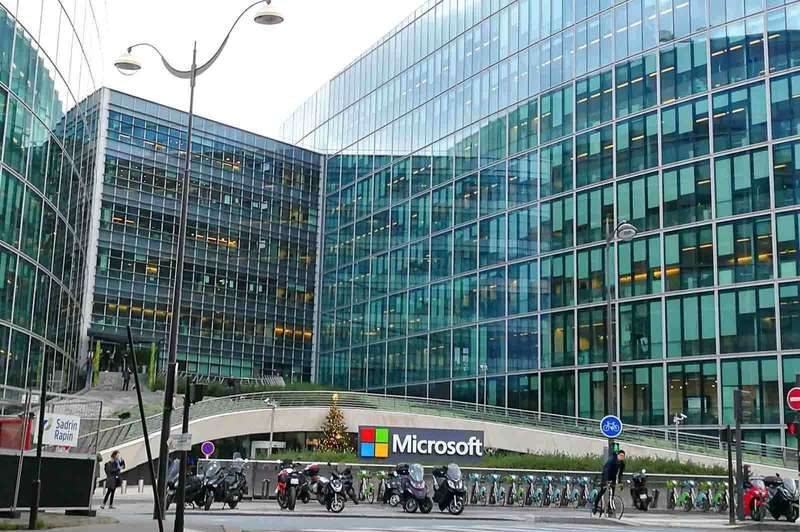 Vu d'extérieur de Microsoft