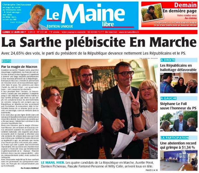 Le Maine Libre - 12 juin 2017