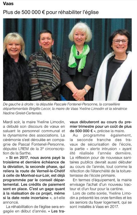 Le Ouest France (12 janvier 2018)