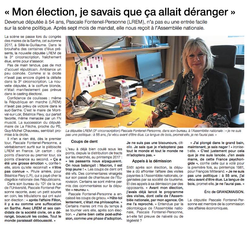 Le Ouest France (20 janvier 2018)