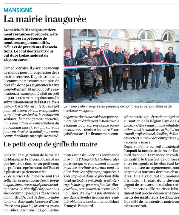 Le Petit Courrier - L'Écho (22 décembre 2017)
