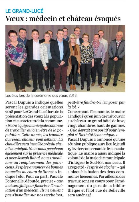 Le Petit Courrier - L'Écho (30 janvier 2018)