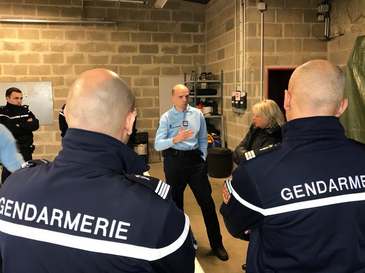 Visite gendarmerie de Moncé en Belin