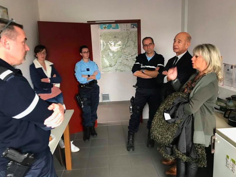 Visite de la Brigade de Gendarmerie de La Chartre - 26 octobre