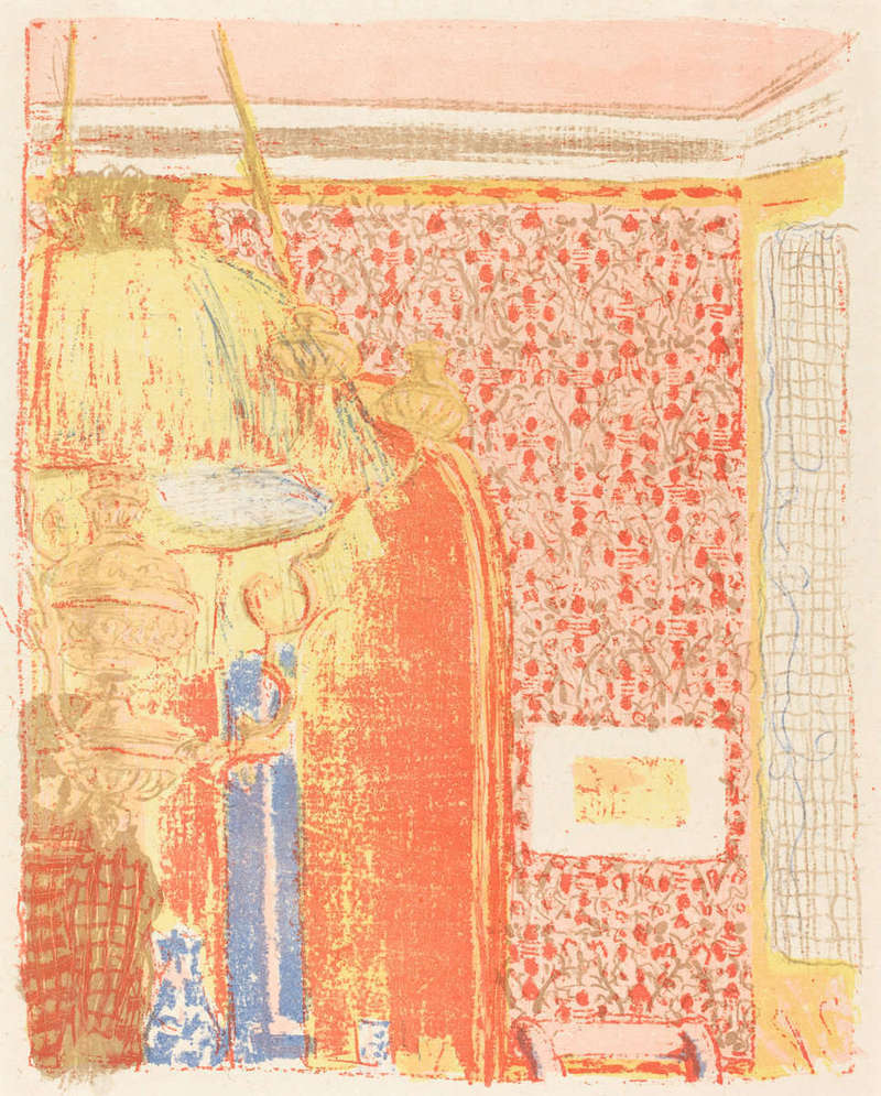 Intérieur aux Tentures Roses III (Interior with Pink Wallpaper III), Print (1896), Rosenwald Collection, National Gallery of Art.