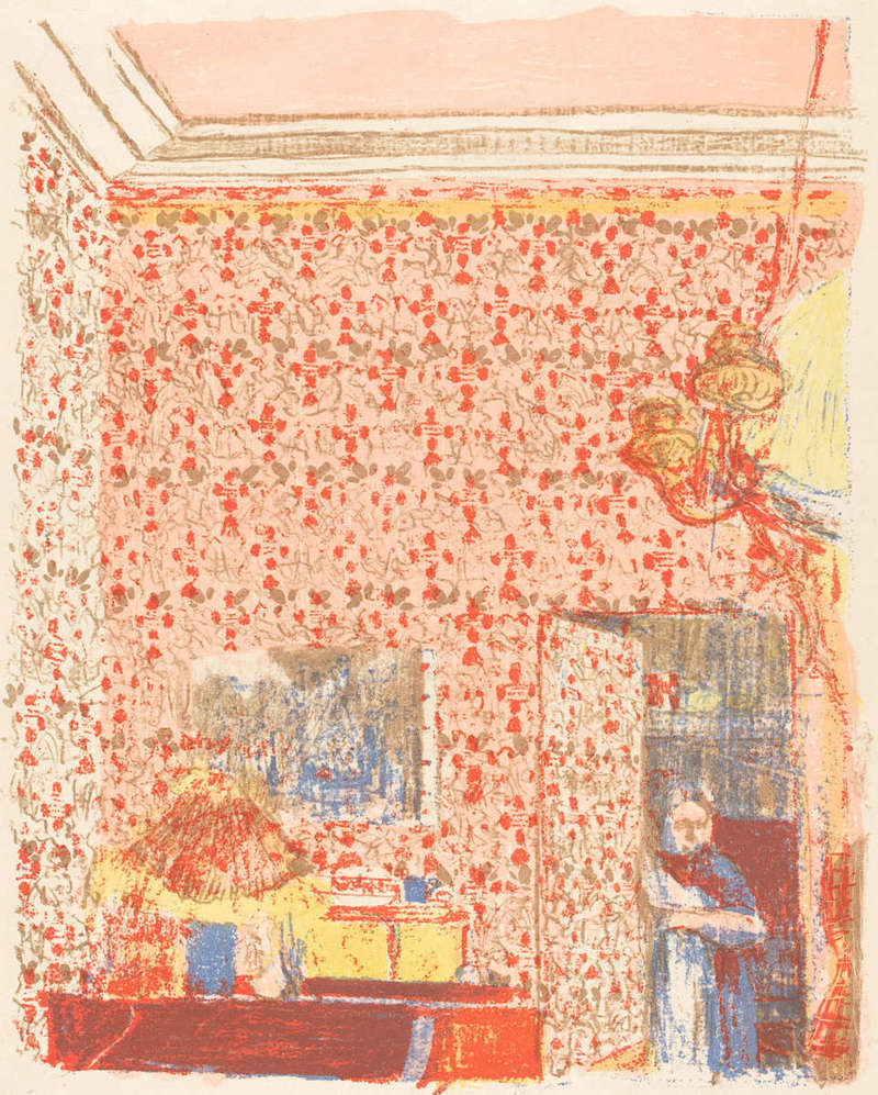 Intérieur aux Tentures Roses I (Interior with Pink Wallpaper I), Print (1896), Rosenwald Collection, National Gallery of Art.