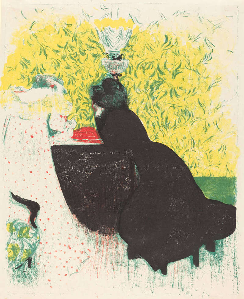 Les Deux Belles-Soeurs (Two Sisters-in-Law), Print (1897/1898), Rosenwald Collection, National Gallery of Art.