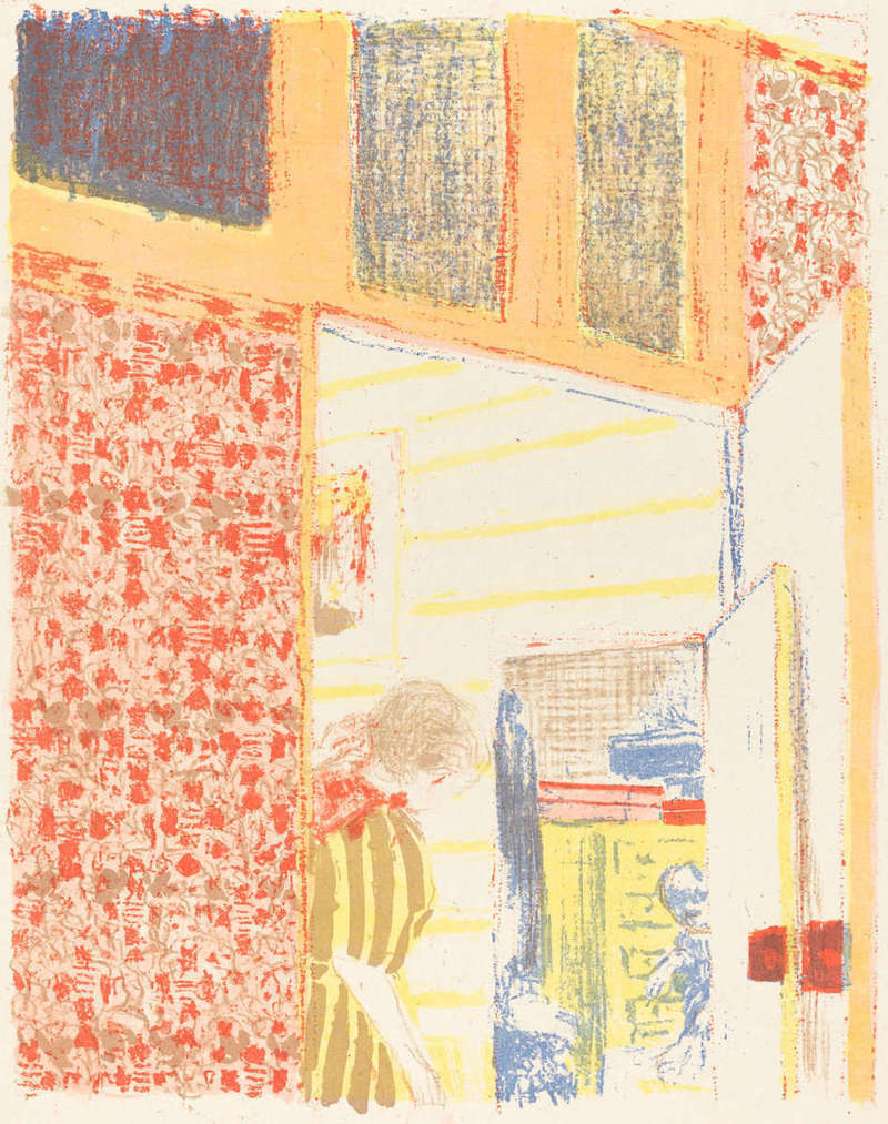 Intérieur aux Tentures Roses II (Interior with Pink Wallpaper II), Print (1896), Rosenwald Collection, National Gallery of Art.