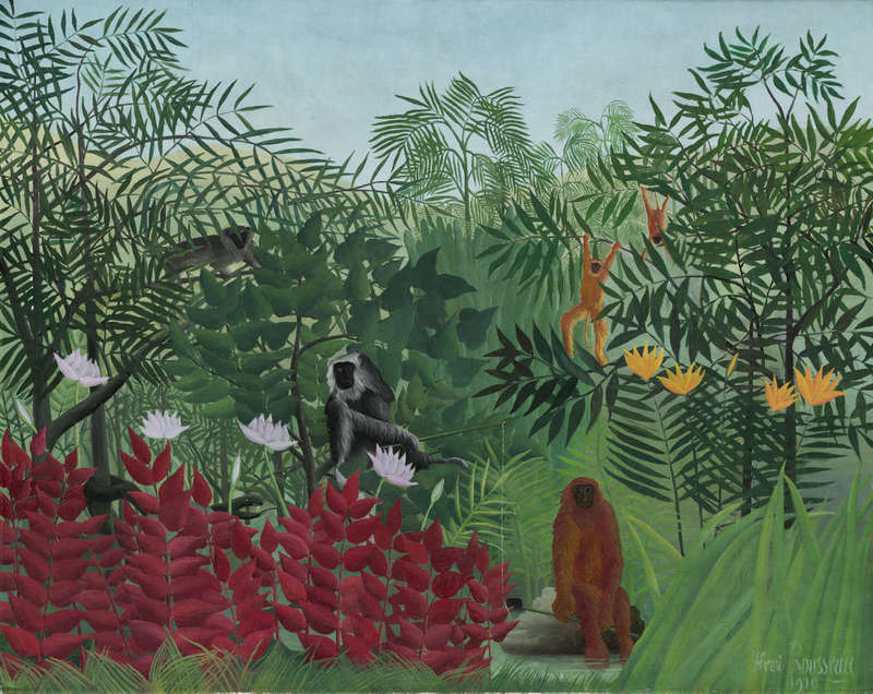 Tropical Forest with Monkeys, Painting (1910), John Hay Whitney Collection, National Gallery of Art.