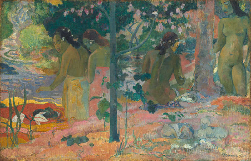 The Bathers, Painting (1897), National Gallery of Art.