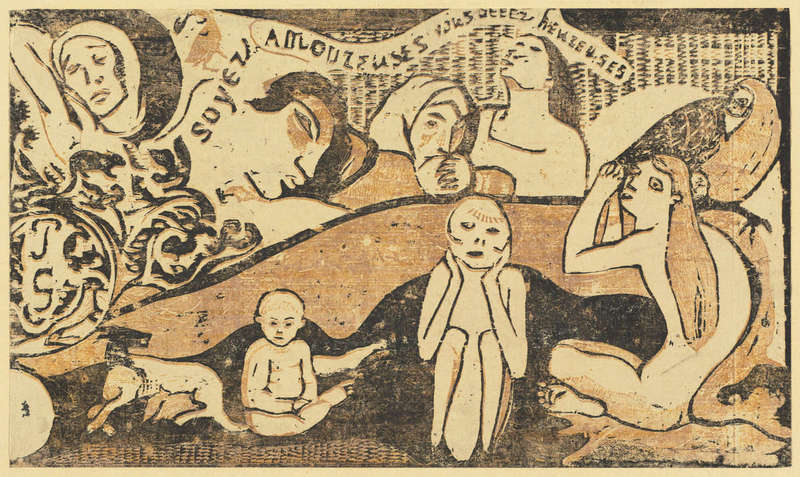 Soyez amoureuses, vous serez heureuses (Be in Love and You will be Happy), Woodcut print (in or after 1895), Rosenwald Collection, National Gallery of Art.