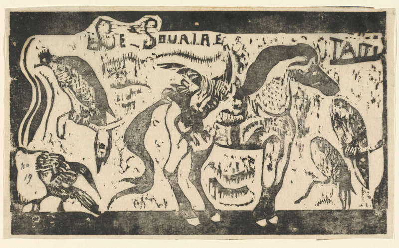 Le Sourire, Woodcut Print (in or after 1895), Rosenwald Collection, National Gallery of Art.