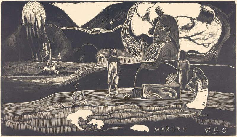 Maruru (Thank You), Woodcut Print, National Gallery of Art.