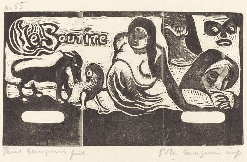 Le sourire, Woodcut Print (in or after 1895), Rosenwald Collection, National Gallery of Art]