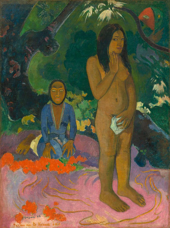 Parau na te Varua ino (Words of the Devil), Painting (1892), National Gallery of Art.