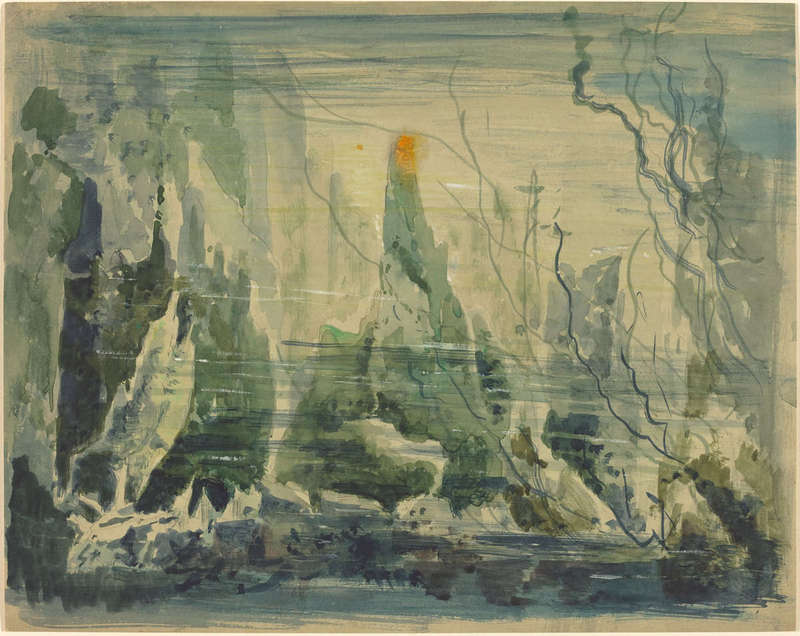 Underwater Scene, Drawing, Joseph F. McCrindle Collection, National Gallery of Art.