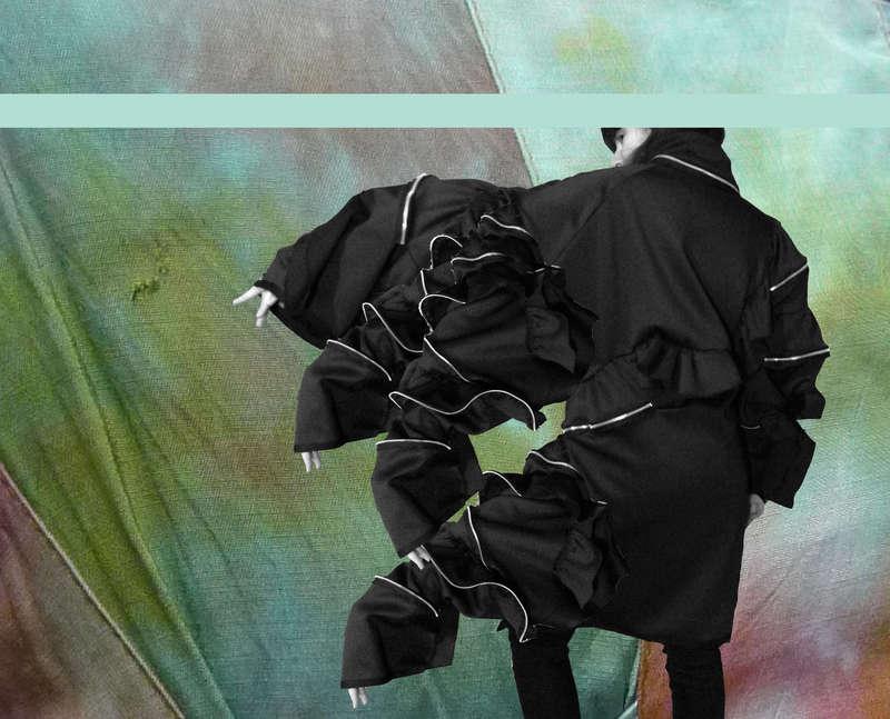 The Black Coat II, Collage (2015), Manon Planche.